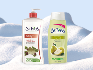 St. Ives Intensive Healing Body Lotion and  Revitalizing Pear & Soy Body Wash