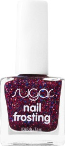 Nail Frosting Glitter Nail Polish. Color: Cherry On Top