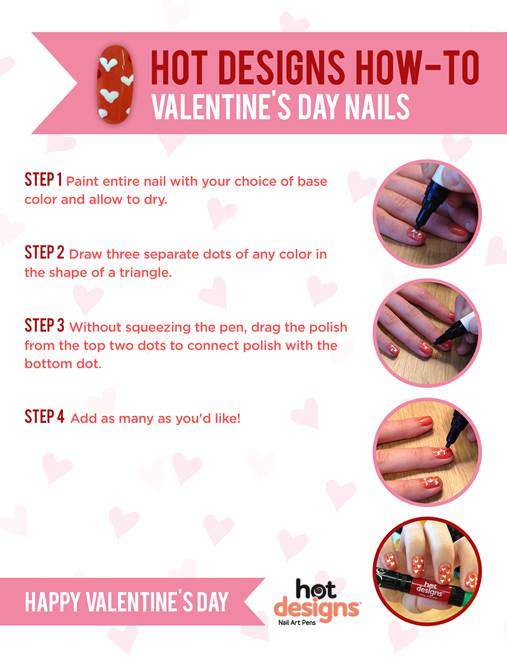 Easy Valentine\'s Day Nail Art Tutorial AND Facebook Giveaway – My ...